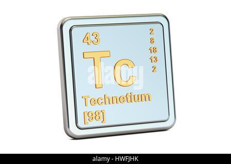 Technetium chemical element periodic table science symbol stock technetium chemical element technetium tc chemical element sign 3d rendering isolated on white background stock photo urtaz Images