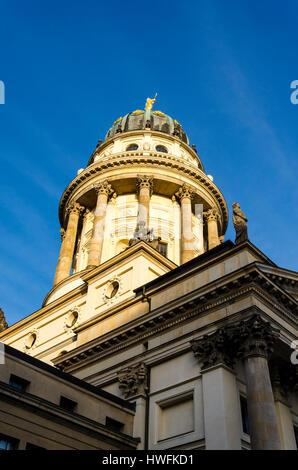 Französischer Dom, French Cathedral, Gendarmenmarkt, Berlin, Germany - Stock Photo