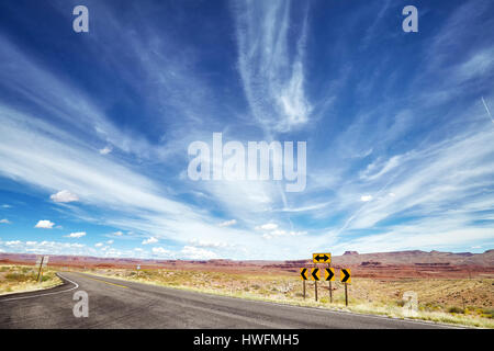 Road signs pointing left or right direction, choice or alternative concept. - Stock Photo