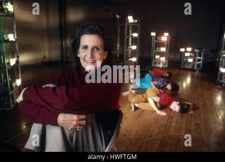 FILE: New York, USA. 18th Feb, 2009. Portrait of dancer and choreographer Trisha Brown in Soho, New York, 1992 with - Stock Photo