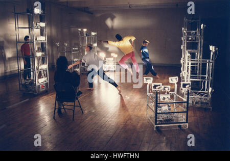 FILE: New York, USA. 18th Feb, 2009. Trisha Brown rehearsing dancers in Soho, New York, in 1992. Ms. Brown, an exemplar - Stock Photo