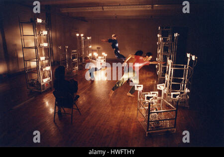 FILE: New York, USA. 18th Feb, 2017. American dancer and choreographer Trisha Brown in Soho, New York, 1992 rehearsing - Stock Photo