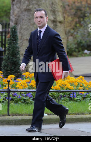 Downing Street, London, UK. 21st Mar, 2017. Alun Cairns Secretary of State for Wales arrives for the weekly Cabinet - Stock Photo