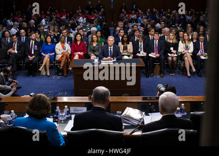 Washington DC, USA. 21st March 2017. Judge Neil Gorsuch, President Donald Trump's nominee for the Supreme Court, - Stock Photo