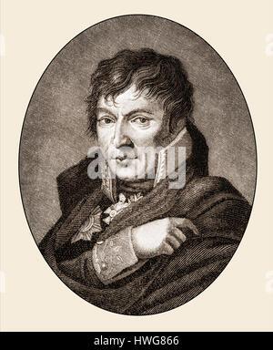 Gerhard Johann David Scharnhorst, 1756 - 1813, Prussian general and military writer - Stock Photo