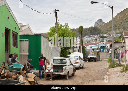 South Africa shanty town or township; Imizamo Yethu township, Cape Town, South Africa