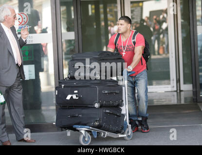 Ronnie Ortiz-Magro arrives at the airport in for the fourth season of MTV's 'Jersey Shore' in Florence, Italy,  - Stock Photo