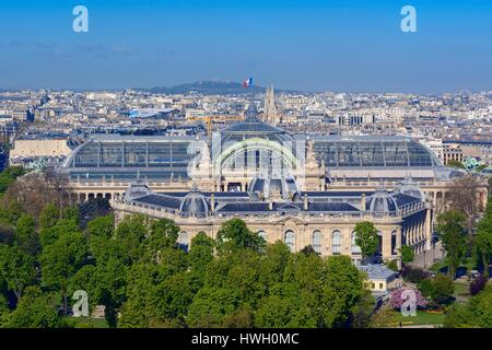 France, Paris, the Grand and the Petit Palais (Grand and Little Palaces) - Stock Photo