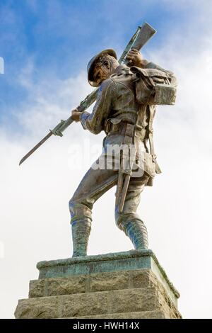 Canada, Quebec province, Mauricie region, Trois Rivieres, Place Pierre Boucher, Braves monument dedicated to Canadian - Stock Photo