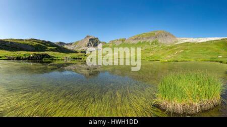 France, Haute Savoie, Passy, Plaine Joux, the Laouchet near the Moëde Anterne refuge (2002m) - Stock Photo