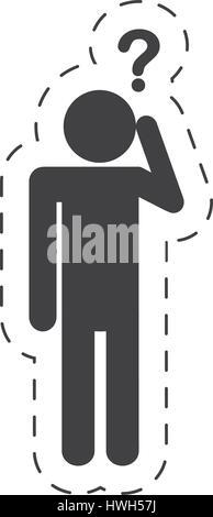 pictogram  question mark image - Stock Photo