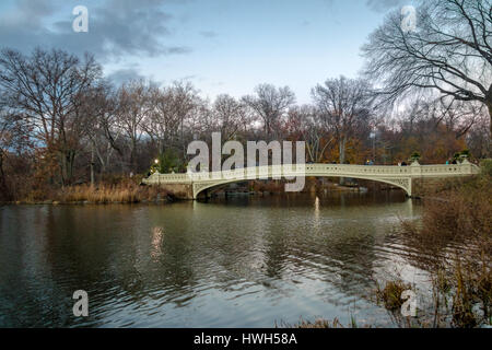 The Bow Bridge in Central Park - New York, USA