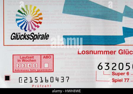 Lottery Bill Lottoschein lotto player, lotto profit, lotto system, lotto winner, lotto society, lotto profit, lotto - Stock Photo