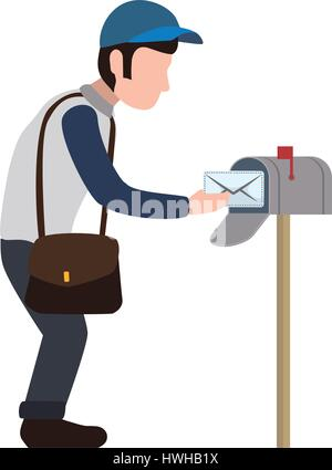 Mailman delivery service - Stock Photo