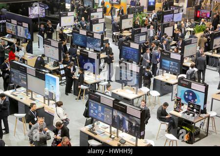 Hannover, Germany, 20th March 2017 - CeBIT digital technology trade fair 2017