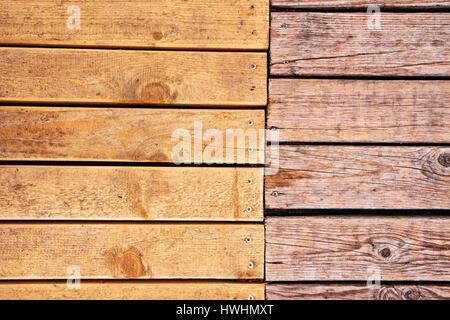 Weathered Outdoor Patio Wooden Flooring Texture Hardwood Planks