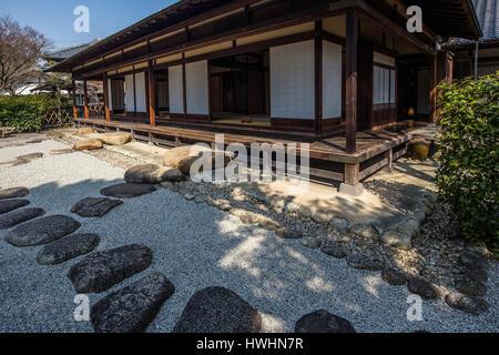 The Issa Soju Memorial Hall in Nagareyama commemorates Issa Kobayashi, a renowned Japanese haiku poet in the 18th - Stock Photo