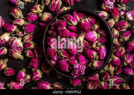 Dried rose buds - Stock Photo