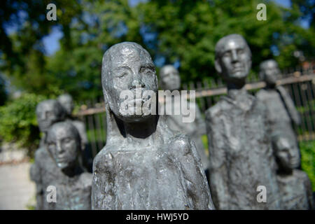 Skulptur Juedische Opfer des Faschismus, Grosse Hamburger Strasse, Mitte, Berlin, Deutschland - Stock Photo