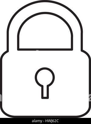 metal padlock closed icon - Stock Photo