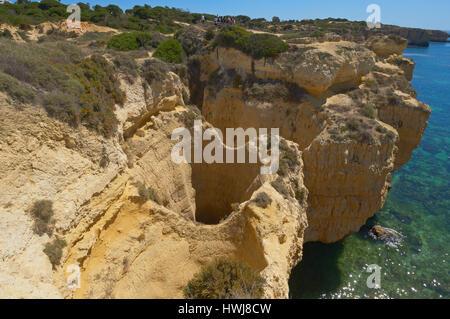 Do Castelo Beach, Albufeira, Praia Do Castelo, Algarve, Portugal, Europe - Stock Photo
