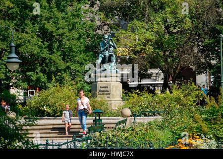 Denkmal Jozef Bohdan Zaleski Planty Park Krakau Polen Stock Photo Alamy
