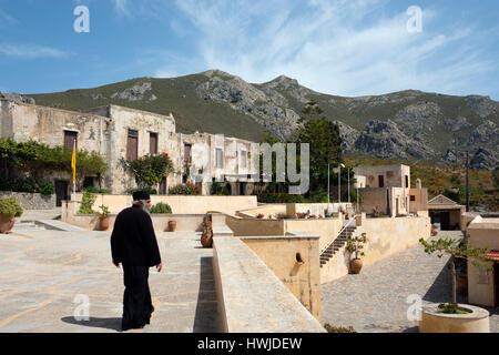 Monastery Preveli, Municipality Agios Vasilios, Crete, Greece - Stock Photo