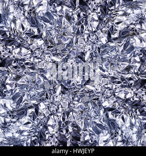 Shiny silver foil texture background - Stock Photo