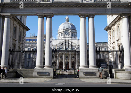 government buildings department of the taoiseach Dublin Republic of Ireland - Stock Photo