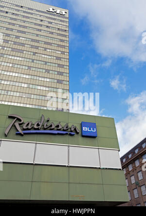 The Radisson Blu Royal Hotel, the SAS Hotel, Vesterbrogade, central Copenhagen, Denmark. Stock Photo