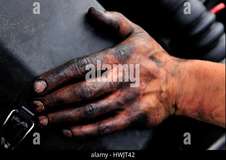 a person, a working, arm, black works, craftemployment, illegally employment, illicit workprofessional life, professionally, - Stock Photo