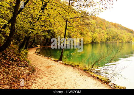 Afternoon in Plitvice National Park in Croatia - Stock Photo