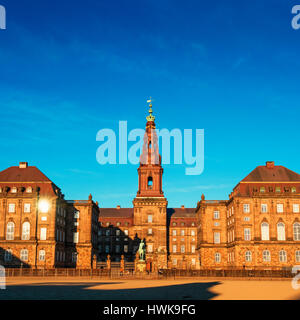 COPENHAGEN, DENMARK - MARCH 11, 2017: Christiansborg Palace in Copenhagen Denmark, Danish parliament building. - Stock Photo