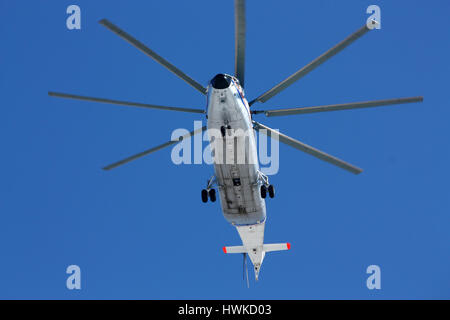 Transport helicopter Mi-26, Rostov-on-Don, Russia, February 18, 2011 - Stock Photo