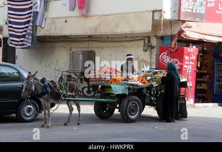 Street vendor at Luxor in Egypt - Stock Photo