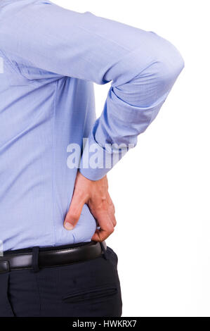 Businessman with aching back. - Stock Photo