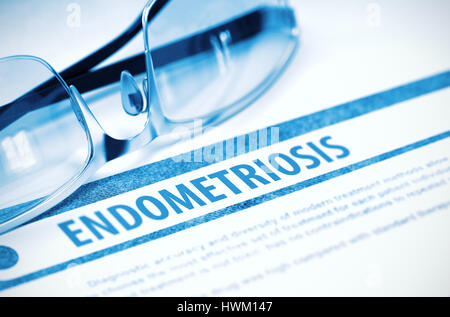 Endometriosis. Medicine. 3D Illustration. - Stock Photo