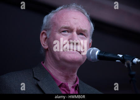 London, UK. 20th June, 2015. Martin McGuinness addresses the People's Assembly's 'End Austerity Now' demonstration - Stock Photo