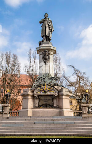 Monument in honor of the great Polish poet, political journalist, leader of the national liberation movement of - Stock Photo