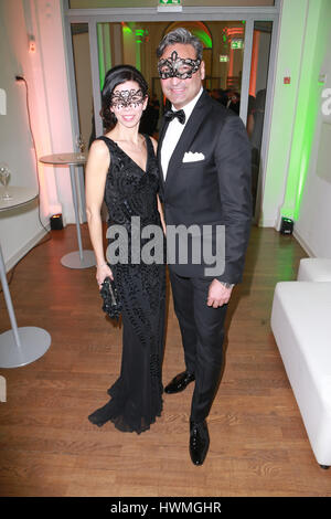 Guests attending the annual Bal Masque' Charity Event at 'Museum fuer Kunst und Gewerbe' in Hamburg  Featuring: - Stock Photo