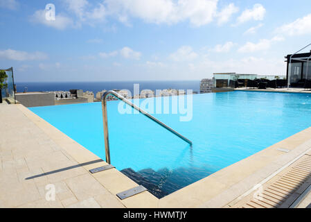 Top Terrace Of Modern Mediterranean Villa With Stainless Steel And Stock Photo Royalty Free