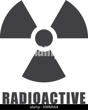 Radioactive icon in vector in issolated background - Stock Photo
