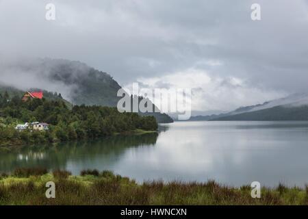 Chile, Patagonia, Aysen region, Queulat National Park, Puyuhuapi fjord - Stock Photo