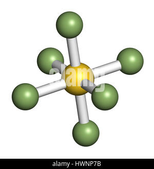 sulfur hexafluoride gas insulator molecule. Microbubbles are used as contrast agent for ultrasound imaging. Potent - Stock Photo