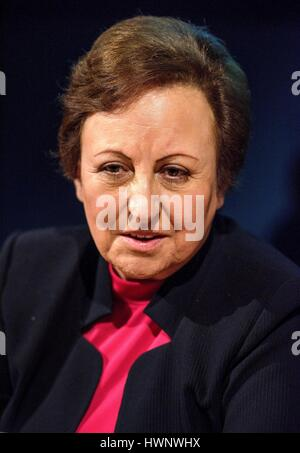 Iranian lawyer and Human Rights activist Shirin Ebadi at Salone Internazionale del Libro in Turin, Italy, May 14, - Stock Photo