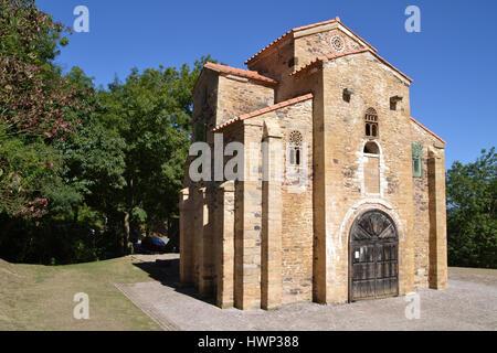 Church of San Miguel de Lillo, Oviedo - Asturias, Spain - Stock Photo