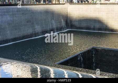 9/11 Memorial in Manhattan - Stock Photo