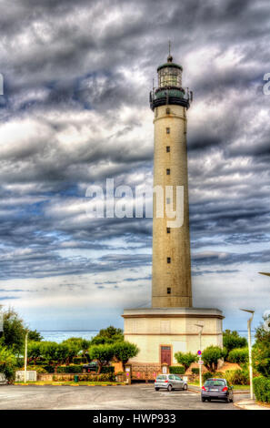 Lighthouse in Biarritz - France, Aquitaine - Stock Photo