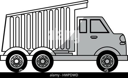 dump truck icon - Stock Photo