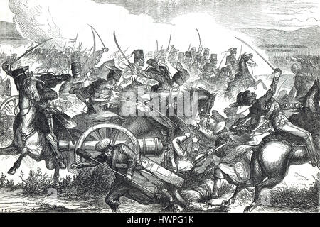 The Charge of the Light Brigade, Battle of Balaclava, Crimean War, 1854 - Stock Photo
